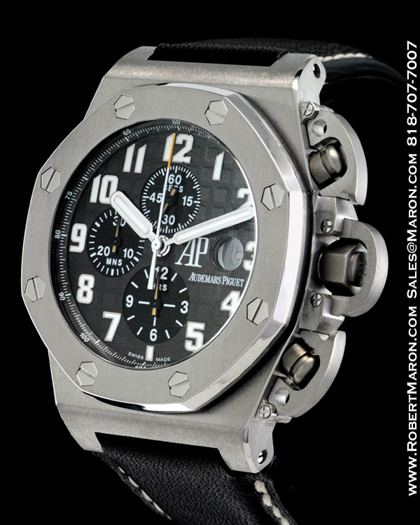 AUDEMARS PIGUET ROYAL OAK T3 CHRONOGRAPH BLACK DIAL 25863