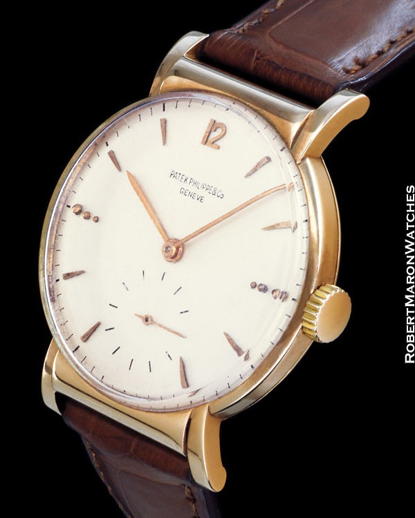 PATEK PHILIPPE 1584 HOODED LUGS 18K ROSE
