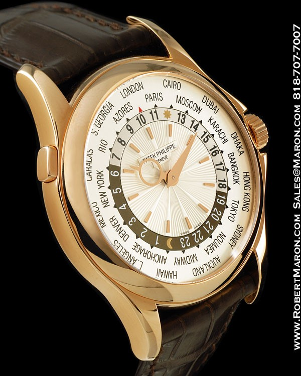 PATEK PHILIPPE 5130R WORLD TIME 18K ROSE NEW