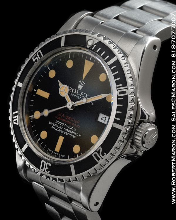 "ROLEX 1665 SEA DWELLER "" DOUBLE RED "" STEEL"