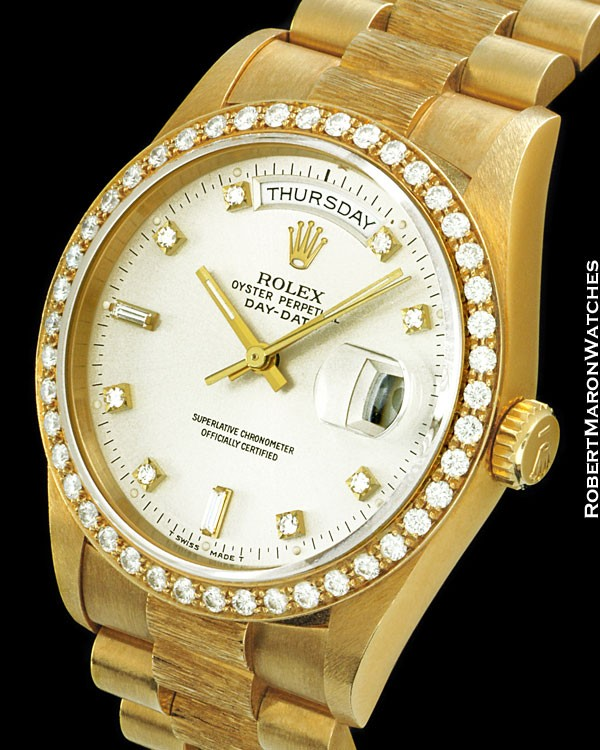 ROLEX 18348 DAY DATE PRESIDENT DIAMONDS 18K