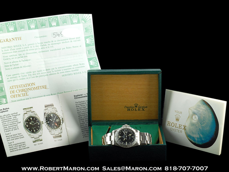 ROLEX VINTAGE EXPLORER II 1655 WHITE OUT STEEL