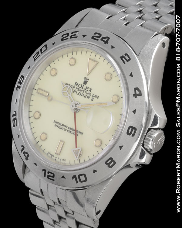 ROLEX 16550 EXPLORER II CREAM DIAL STEEL