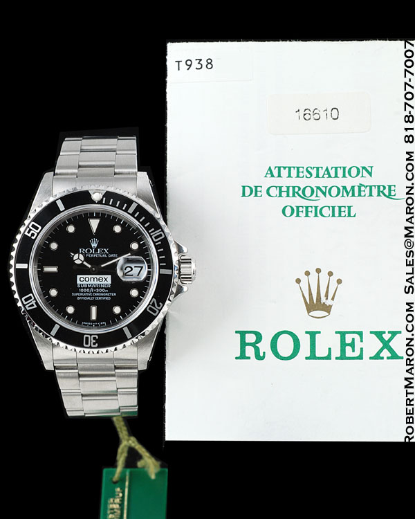 ROLEX SUBMARINER 16610 COMEX STEEL