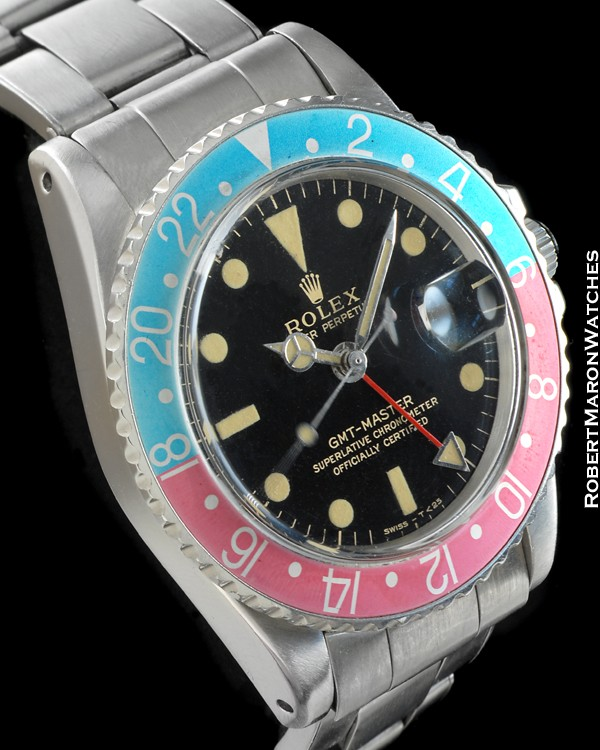 ROLEX 1675 GMT MASTER STEEL BOX & PAPERS
