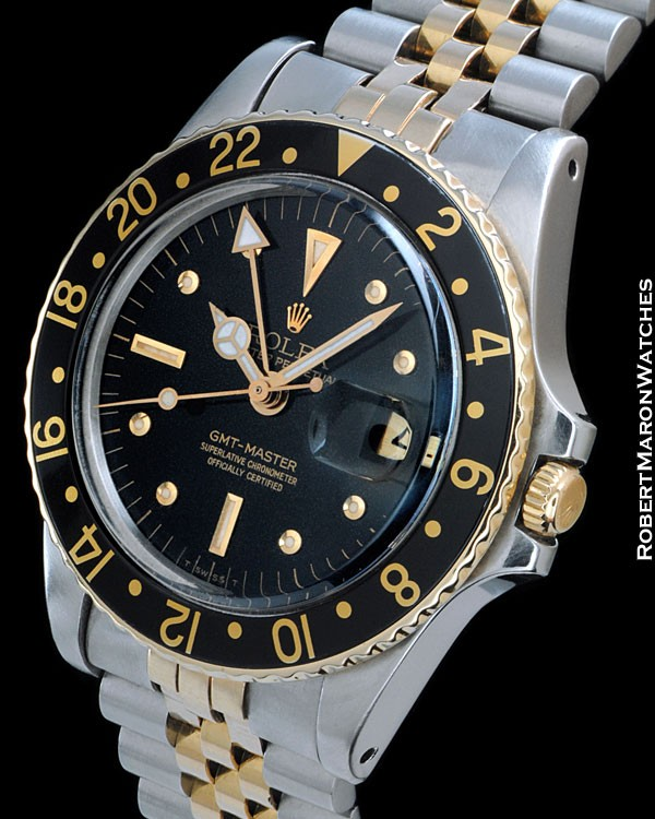 ROLEX 1675 GMT MASTER STEEL 18K