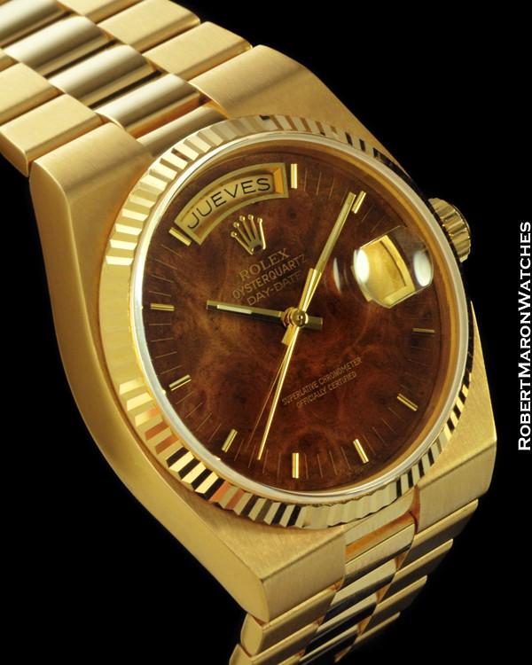 Rolex 19018 Day Date President Oysterquartz 18k All