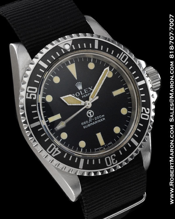 rolex 5513 submariner military steel    all watches