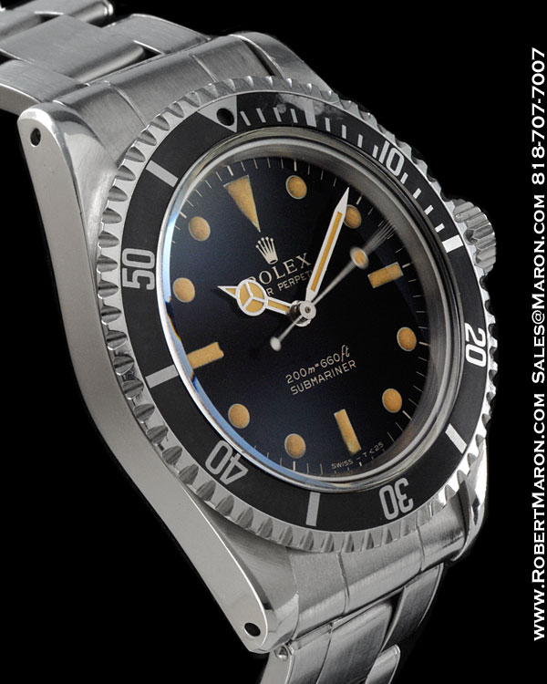 ROLEX 5513 SUBMARINER GILT DIAL STEEL
