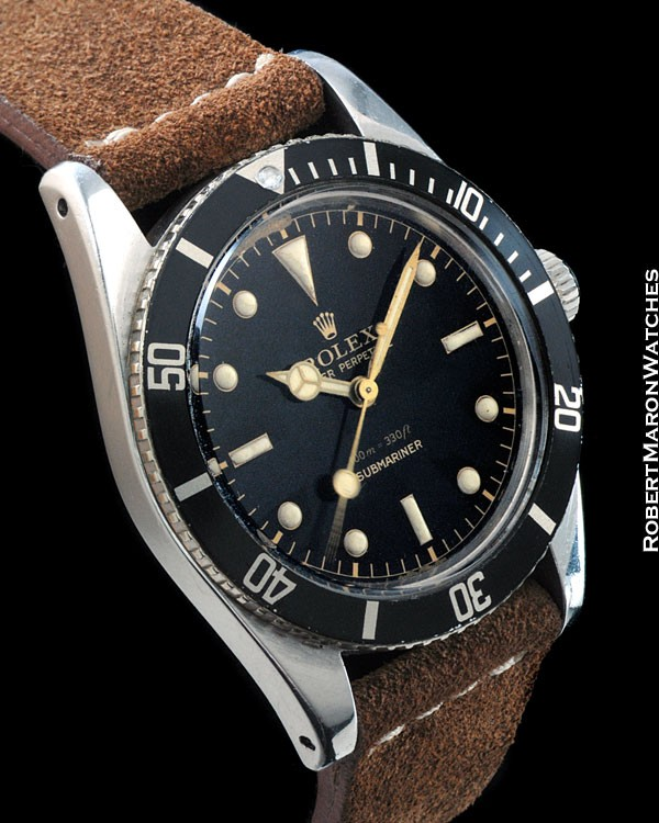 ROLEX 6536-1 SUBMARINER NO CROWN GUARDS GILT STEEL
