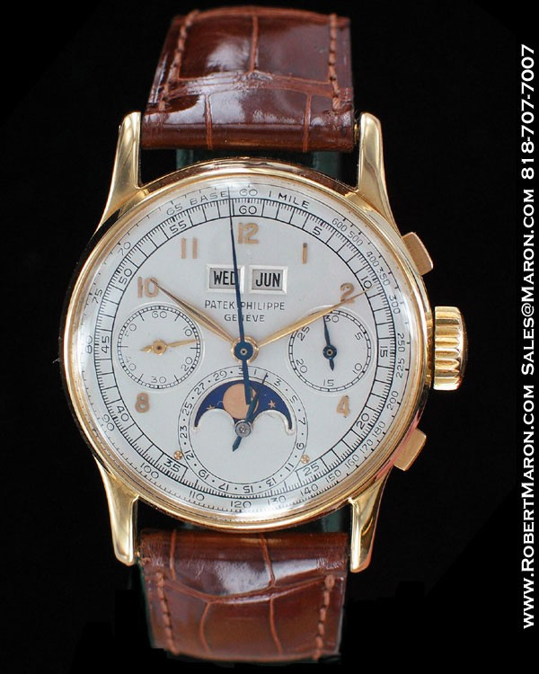 Patek philippe vintage perpetual calendar chronograph moonphase for Patek philippe moonphase