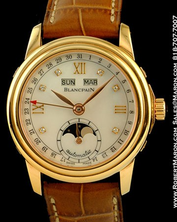 BLANCPAIN LEMAN MOONPHASE CALENDAR 18K RED GOLD