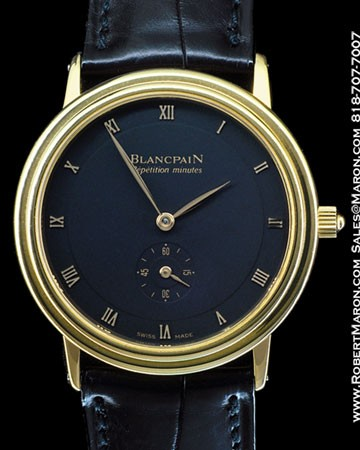 BLANCPAIN MINUTE REPEATER 18K