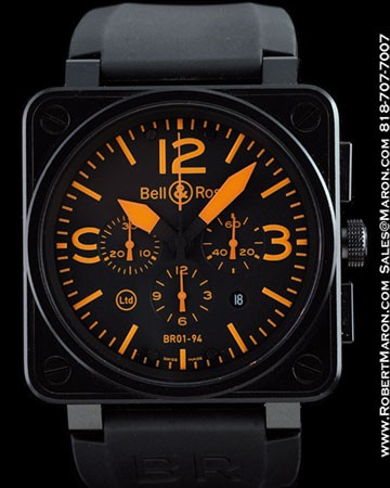 BELL & ROSS BR01-94-SO LIMITED EDITION PVD CHRONOGRAPH INSTRUMENT WATCH