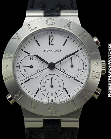 BVLGARI PLATINUM DIAGONO SPLIT SECONDS CHRONOGRAPH AUTOMATIC NEW