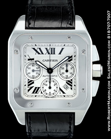 CARTIER SANTOS 100 CHRONOGRAPH STEEL