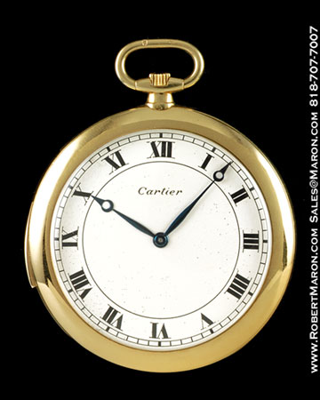 CARTIER MINUTE REPEATER POCKET WATCH 18K
