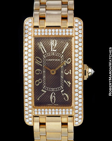 CARTIER TANK AMERICAINE DIAMONDS 18K