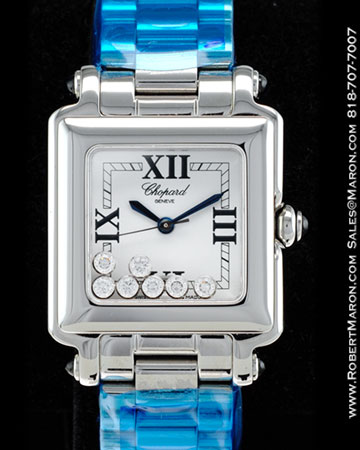 CHOPARD HAPPY SPORT 7 DIAMONDS SQUARE STAINLESS STEEL