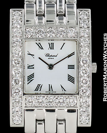 CHOPARD CLASSIQUE H WATCH 18K WHITE GOLD DIAMONDS NEW 10/6805