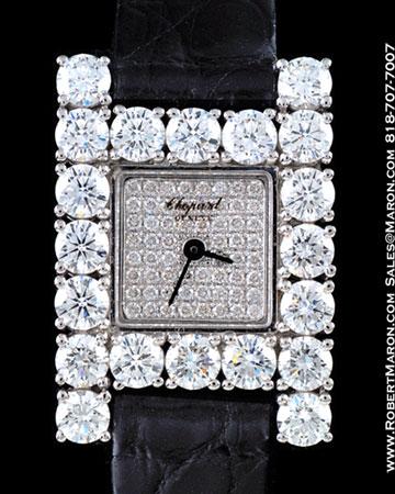CHOPARD LADY H WATCH 18K WHITE GOLD DIAMOND CASE