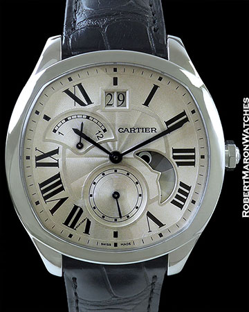 CARTIER DRIVE de CARTIER COMPLICATED STEEL WATCH NEW WSNM0005