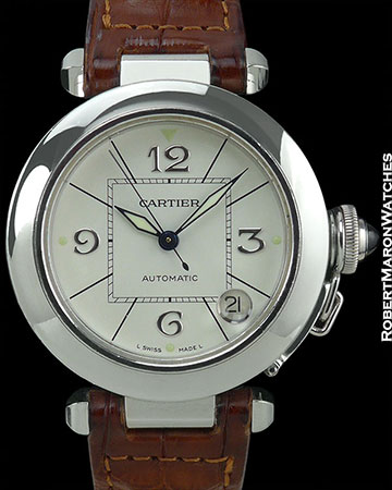 CARTIER PASHA 18K WHITE GOLD AUTOMATIC 35mm