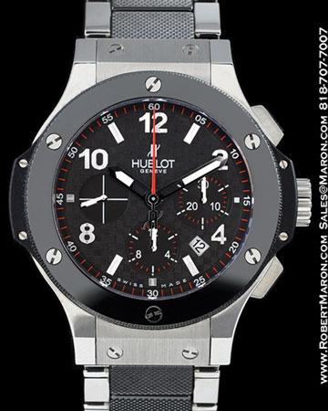hublot big bang steel chronograph automatic mens watch 301m 44.5mm