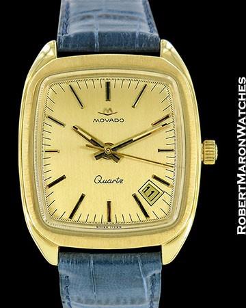 MOVADO BETA 21 18K GOLD QUARTZ