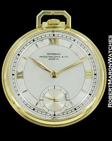 PATEK PHILIPPE RATTERMANN POCKET WATCH 18K GOLD