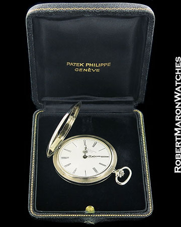 PATEK PHILIPPE POCKET WATCH 18K WHITE GOLD