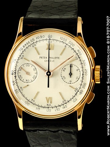 PATEK PHILIPPE 130 VINTAGE CHRONOGRAPH 18K ROSE GOLD