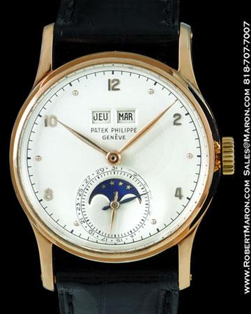 Patek philippe 1526 r moonphase calendar 18k all watches for Patek philippe moonphase