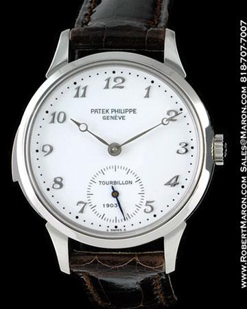 PATEK PHILIPPE 3939 G MINUTE REPEATER TOURBILLON 18K WHITE GOLD