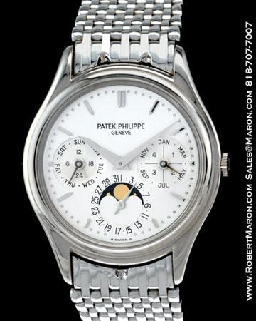 PATEK PHILIPPE PERPETUAL CALENDAR MOONPHASE 3940 G BRACELET