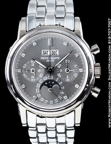 PATEK PHILIPPE 3970 G PERPETUAL CHRONOGRAPH DIAMONDS 18K