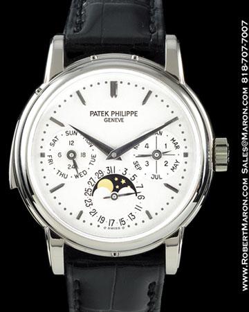 PATEK PHILIPPE 3974 G MINUTE REPEATER PERPETUAL CALENDAR 18K