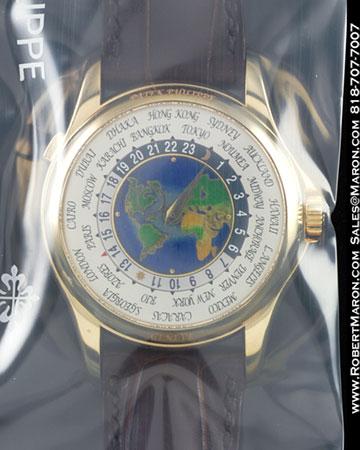 PATEK PHILIPPE 5130 J WORLD TIME CLOISONNE 18K