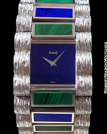 PIAGET 9150 MALACHITE AND LAPIS 18K WG