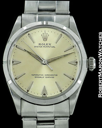 ROLEX VINTAGE OYSTER PERPETUAL 1003 STEEL AUTOMATIC 1968 BOX PAPERS 56ed04ed70bf