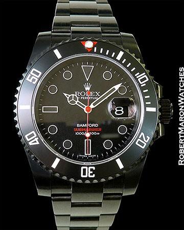 ROLEX 116610 SUBMARINER BAMFORD BLACK STEEL