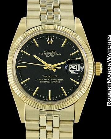 ROLEX VINTAGE DATE 1503 14K TIFFANY DIAL UNPOLISHED AUTOMATIC 1978