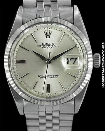 ROLEX VINTAGE DATEJUST 1601 AUTOMATIC 18K WHITE GOLD/STEEL 1964