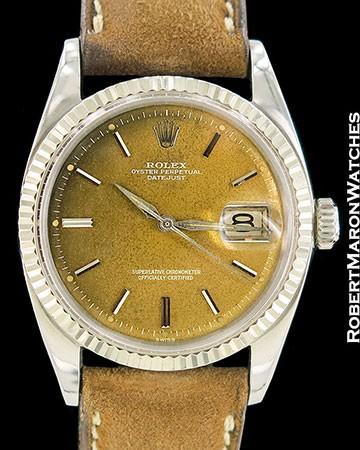 ROLEX VINTAGE DATEJUST 1601 STEEL/18K CARAMEL COLOR CHANGE DIAL 1962