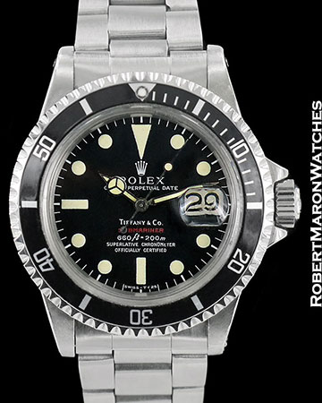 ROLEX VINTAGE RED SUBMARINER 1680 TIFFANY STEEL AUTOMATIC 1972