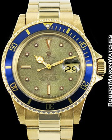 ROLEX VINTAGE SUBMARINER 1680 18K TROPICAL DIAL AUTOMATIC