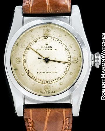 ROLEX VINTAGE SHORT SECONDS BUBBLE BACK 2940 STEEL AUTOMATIC 1940s