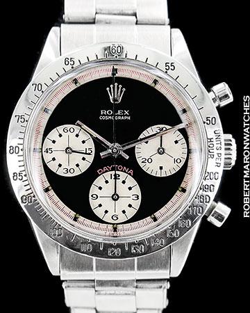 ROLEX VINTAGE DAYTONA PAUL NEWMAN 6239 CHRONOGRAPH STEEL 1969