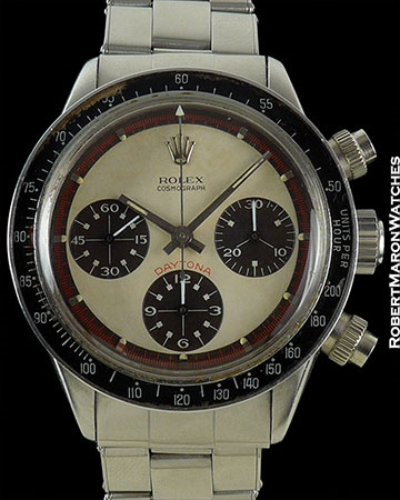 ROLEX PAUL NEWMAN DAYTONA 6240 RARE 3 COLOR DIAL STEEL