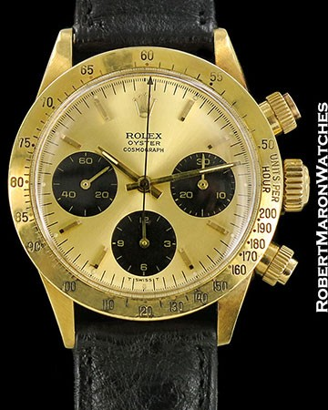 ROLEX VINTAGE 6265 18K DAYTONA CHRONOGRAPH 1970 1ST SERIES PUSHERS